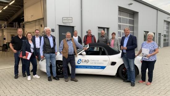 SPD Kreistagsfraktion bei der Firma E Cap in Winsen